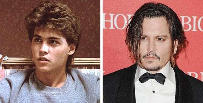 Como alguns atores famosos mudaram desde a primeira vez que apareceram nas telas