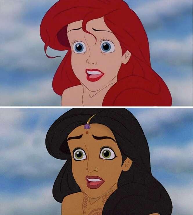 Como seriam as princesas da Disney se fossem de outras etnias