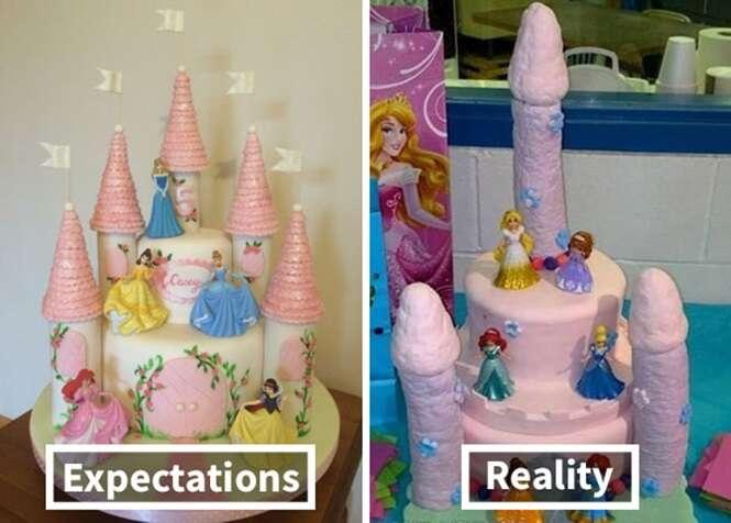 Expectativa X realidade: 20 das piores tentativas de copiar bolos