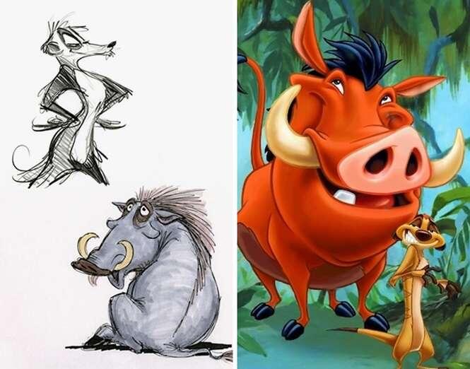 Veja como eram os primeiros desenhos de personagens da Disney que todo mundo conhece
