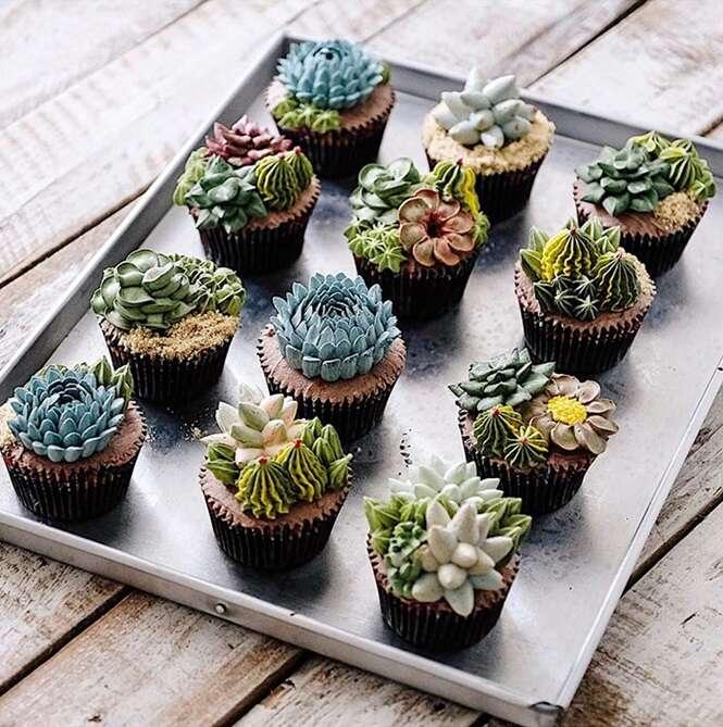 Bolos inspirados em plantas que nem parecem ser coisa de comer