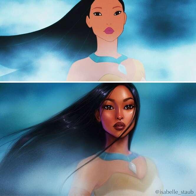 Ilustradora recria princesas da Disney de maneira ímpar