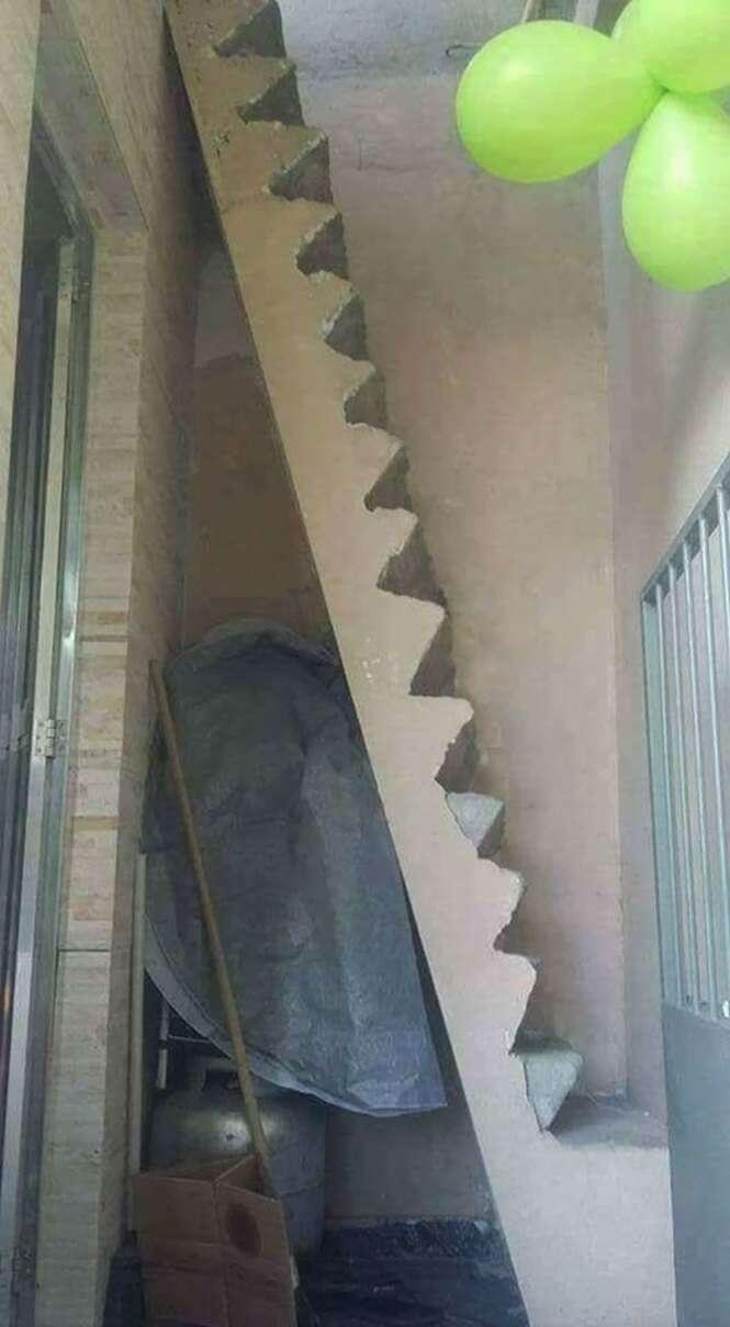 Alguns acidentes esperando para acontecer graças a engenheiros e arquitetos