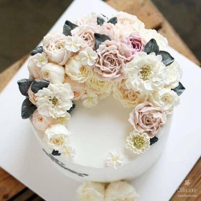 Pessoas que usaram a primavera como inspiração para criar bolos