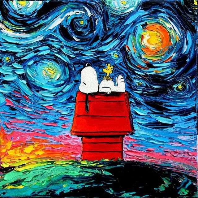 Ícones da cultura pop retratados como se tivessem sido feitos por Van Gogh