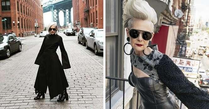 Jornalistas confundem professora de 63 anos com ícone da moda e mudam a vida da mulher
