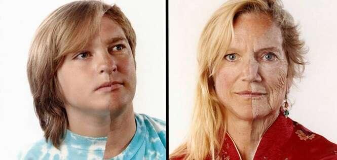 Imagens mostrando pais e filhos incrivelmente parecidos