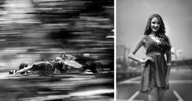Fotógrafo usa máquina de 104 anos para registrar Fórmula 1 e o resultado são imagens incríveis