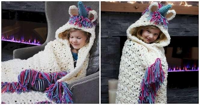 Que tal este mágico cobertor de unicórnio para o seu filho?