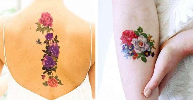 Lindas tatuagens florais que você vai querer fazer agora