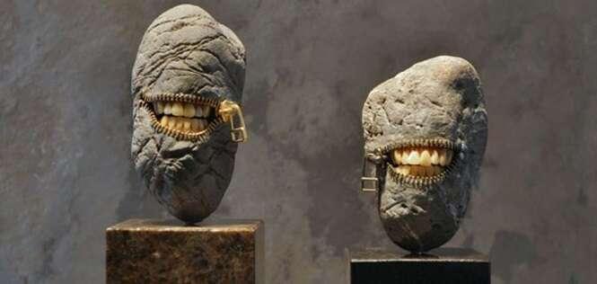 Esculturas incríveis feitas com pedras