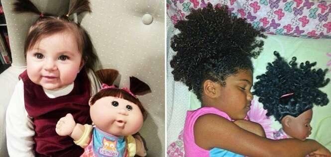 Bebês que são praticamente cópias de seus brinquedos