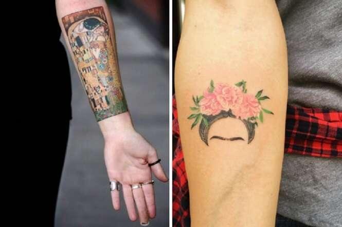 Tatuagens para quem é amante de arte