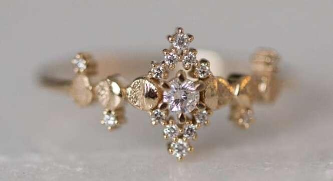 Anéis de noivado incrivelmente lindos