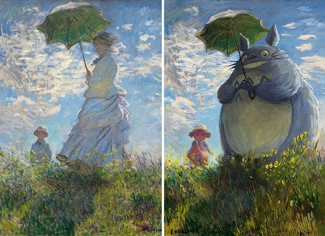 Obras de arte clássicas transformadas por artista digital