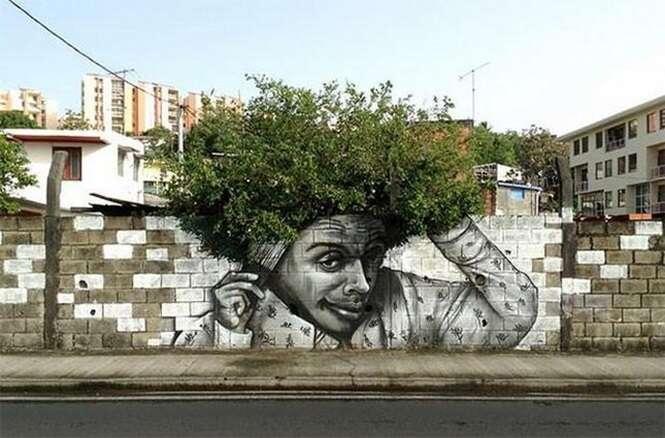 Exemplos de arte urbana e natureza juntas com o objetivo de tornar cidades mais bonitas