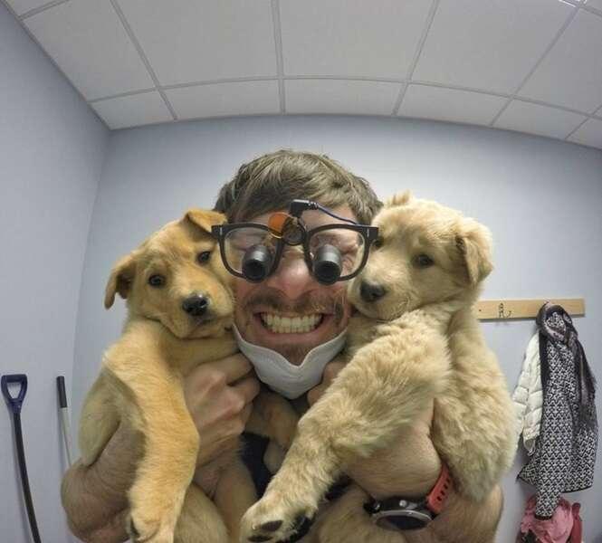 Conheça o dentista do Alasca que ganhou a Internet com seus cães