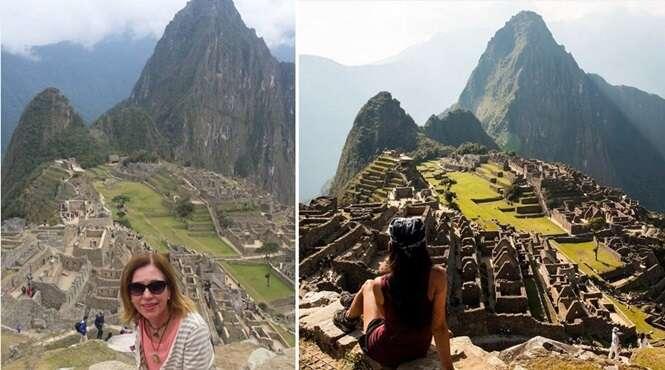 Fotos mostrando a diferença entre amadores e profissionais