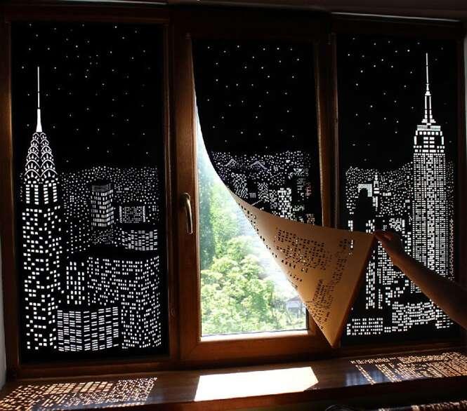 Estas cortinas farão você sentir que está morando em uma cobertura na cidade grande