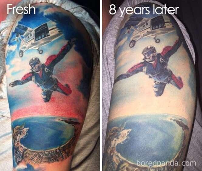 Pensando em fazer uma tatuagem? Estas fotos revelam como ela ficará com o passar do tempo