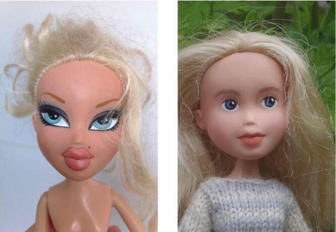 Como fica o visual de bonecas sem maquiagem