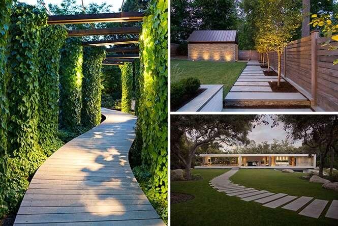 Passarelas modernas, criativas e funcionais para o quintal da sua casa