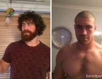 15 homens que não parecem as mesmas pessoas sem barba