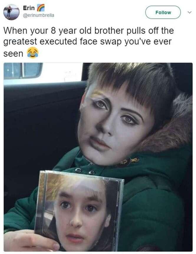 Trocas de rostos que culminaram em resultados pra lá de bizarros