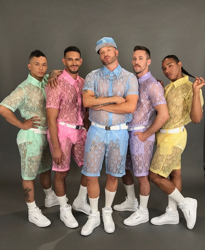 Você, homem, usaria estes shorts de renda?