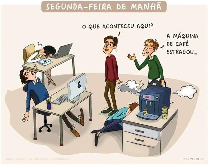 Imagens que retratam perfeitamente a vida de todo mundo que trabalha em escritório