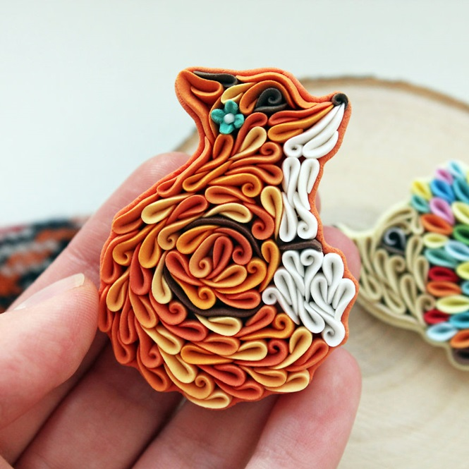 Broches e pingentes incríveis feitos com argila de polímeros