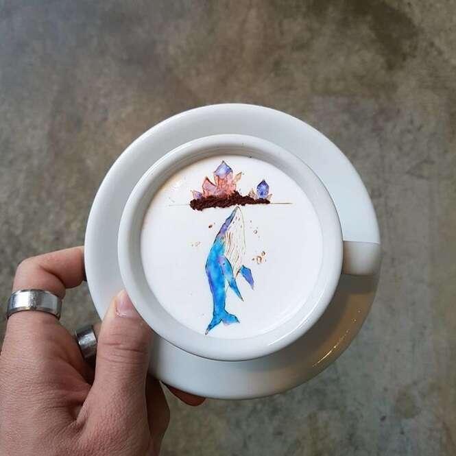 Artes sensacionais feitas em café