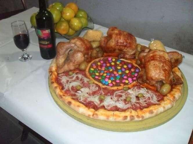 Provas de que os brasileiros exageram na criatividade quando o assunto é pizza