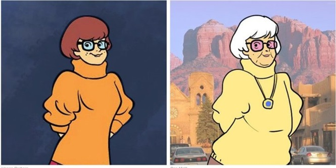 Como seriam personagens de Scooby-Doo se sofressem os efeitos do tempo