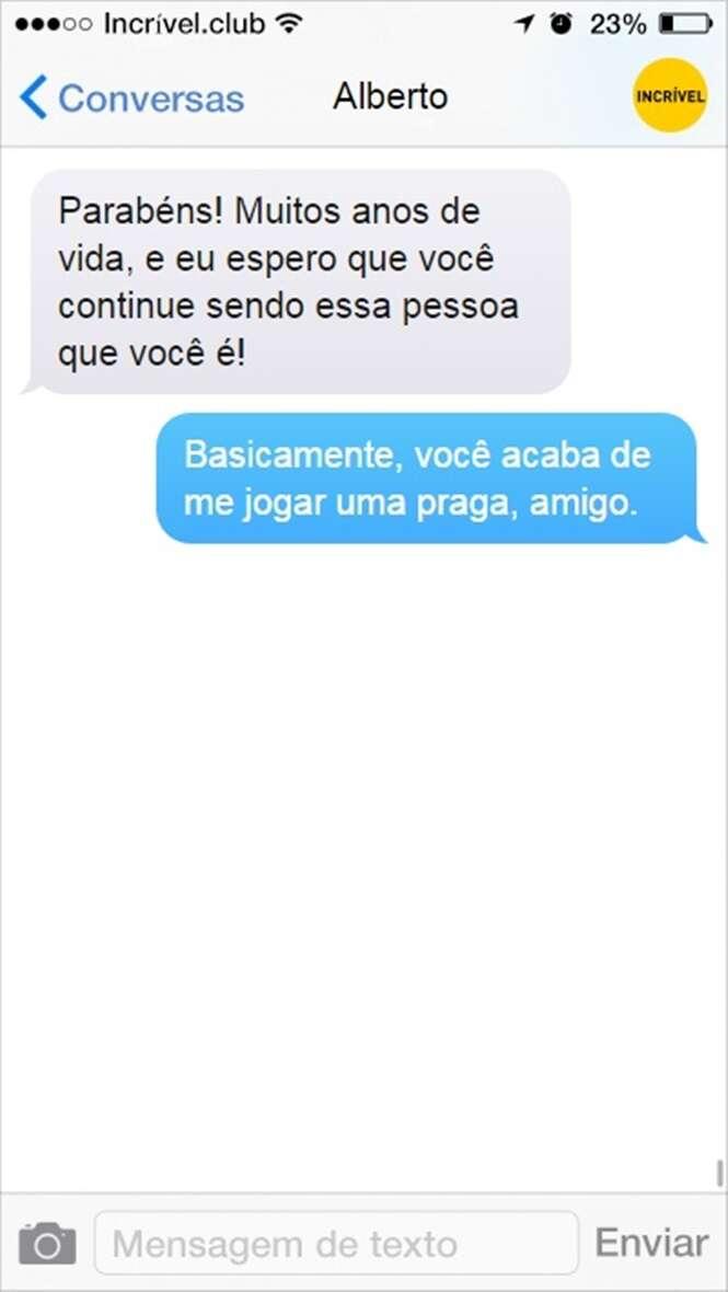 Mensagens trocadas por amigos de verdade