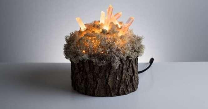 Designer cria pequenas e adoráveis luminárias inspiradas na natureza