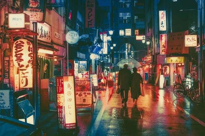 Fotos incríveis mostrando Tóquio à noite