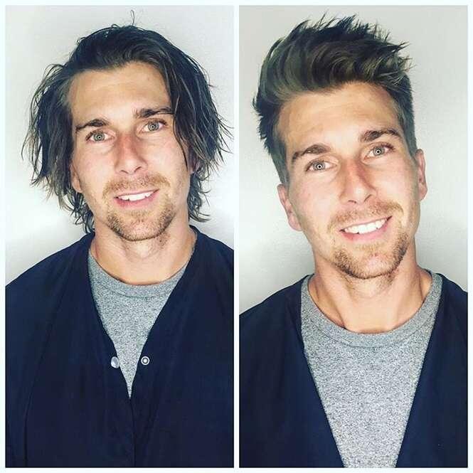 Homens que ficaram incrivelmente atraentes após um simples corte de cabelo