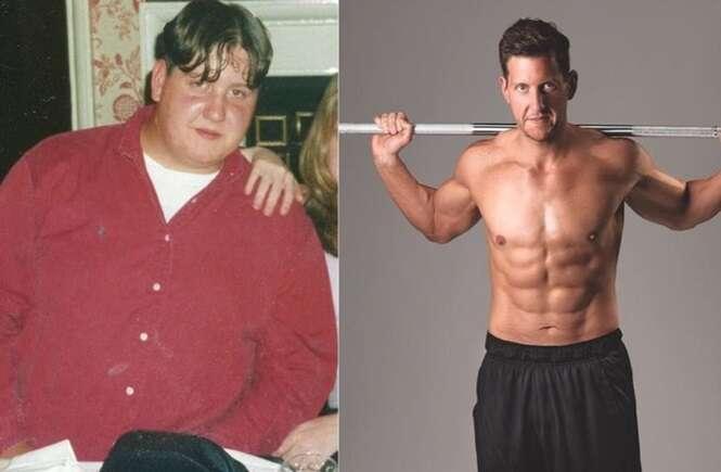 Homens que perderam o excesso de peso e que agora parecem celebridades de Hollywood