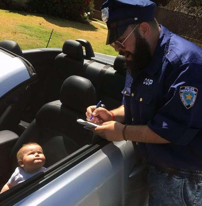 Fotos adoráveis de um pai criativo e seu filhinho