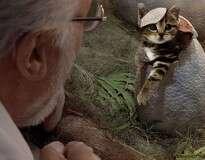 Alguém substituiu dinossauros de Jurassic Park por gatos, e o resultado é hilário