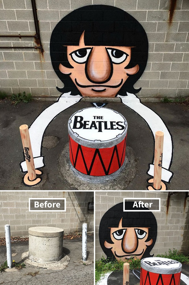 Obras geniais em Nova Iorque de artista de rua criativo