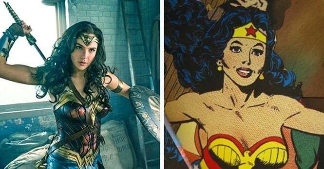 Como são diferentes 15 personagens nos comics e nos filmes