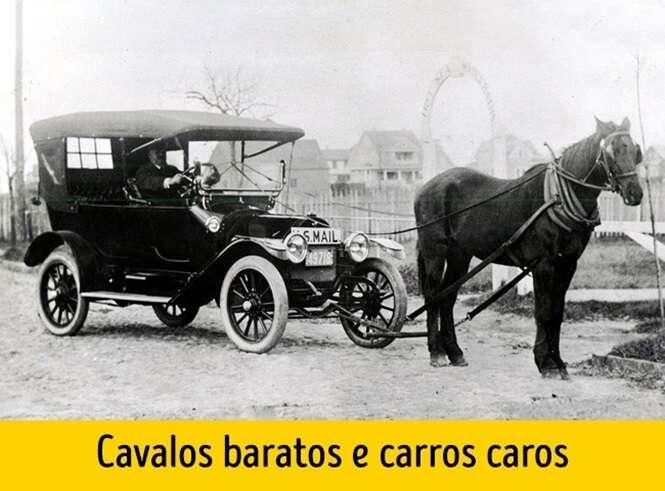 Imagens mostrando 100 anos de mudanças