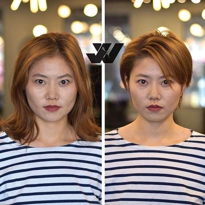 Mudanças provando que cabelo curto é tudo de bom