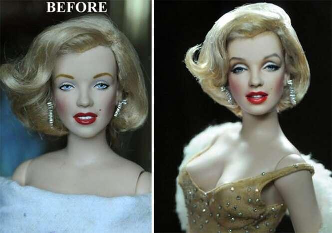 Artista retoca bonecos dando-lhes aparência realista e resultado é surpreendente