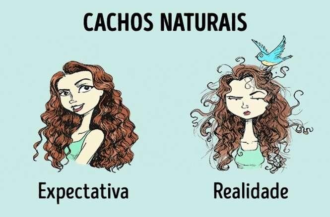 Expectativa X realidade com cabelos