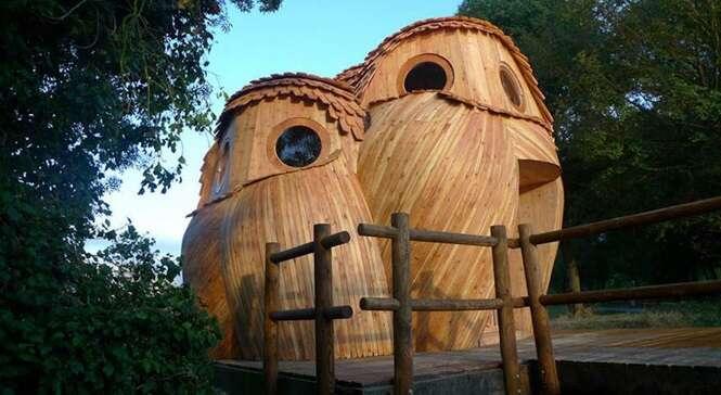 O interior desta cabana em forma de coruja é tão bom quanto o exterior