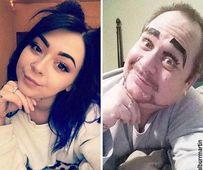 Pai trolla filha recriando selfies da jovem e consegue mais seguidores que ela no Instagram