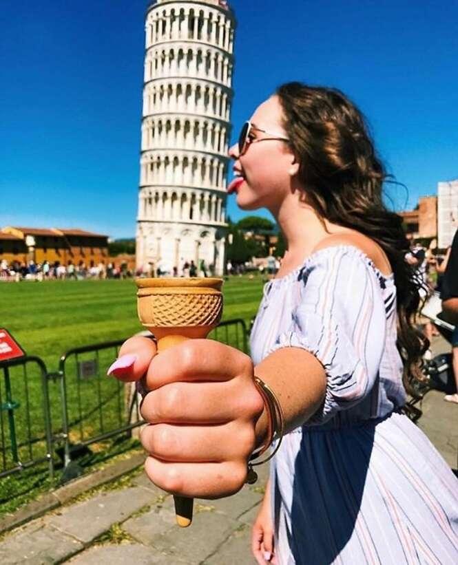 Quem disser que posar com a torre inclinada de Pisa é um clichê certamente ainda não viu estas 10 fotos